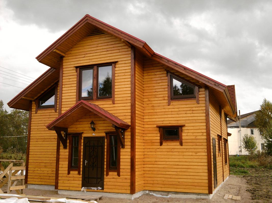 Отделка двухэтажного дома