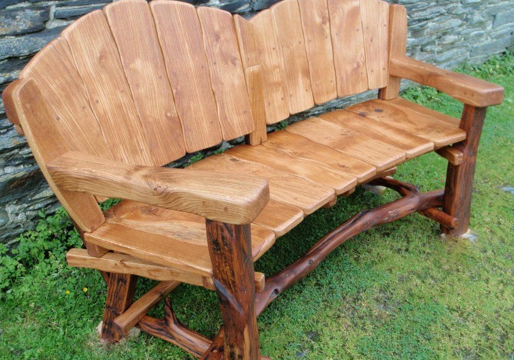 Садовая скамейка своими руками с резьбой
