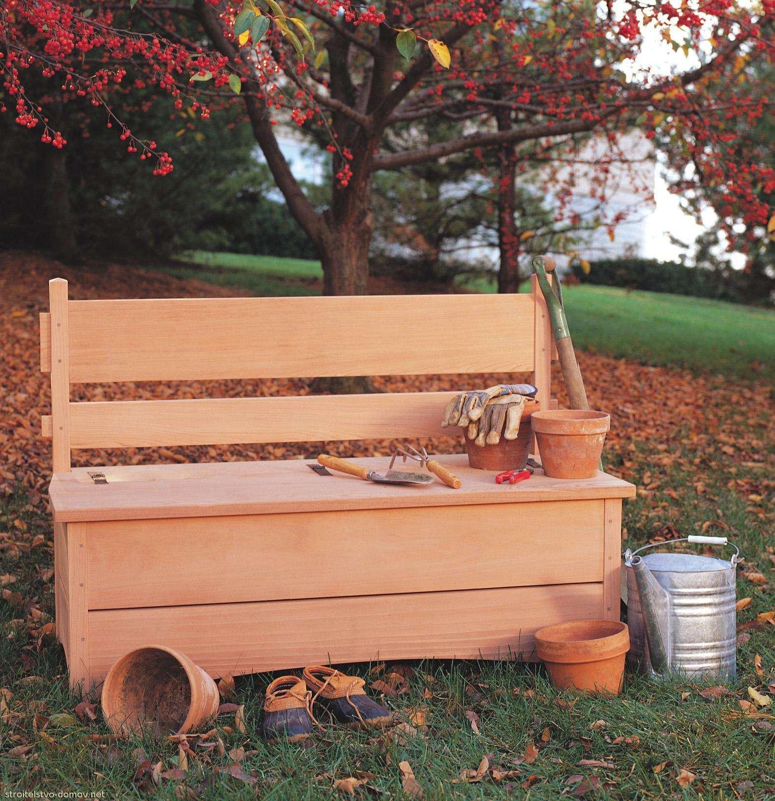 Садовая скамейка своими руками в огород