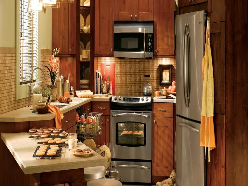 Фото угловой кухни на 12 квадратных метров