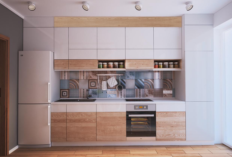 Дизайн кухни-гостиной 12 кв. м