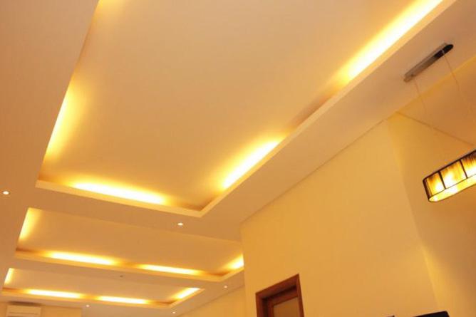 Натяжной потолок: интересное решение