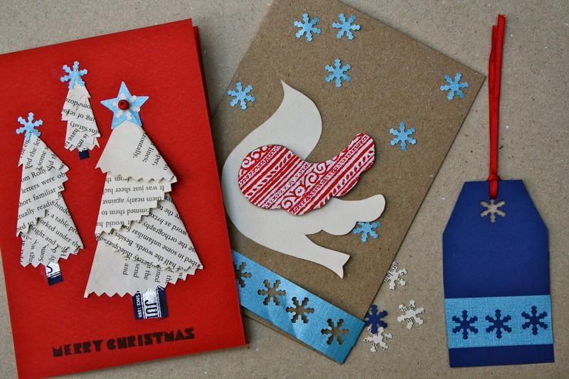Валентина, открытки новогодние из цветной бумаги