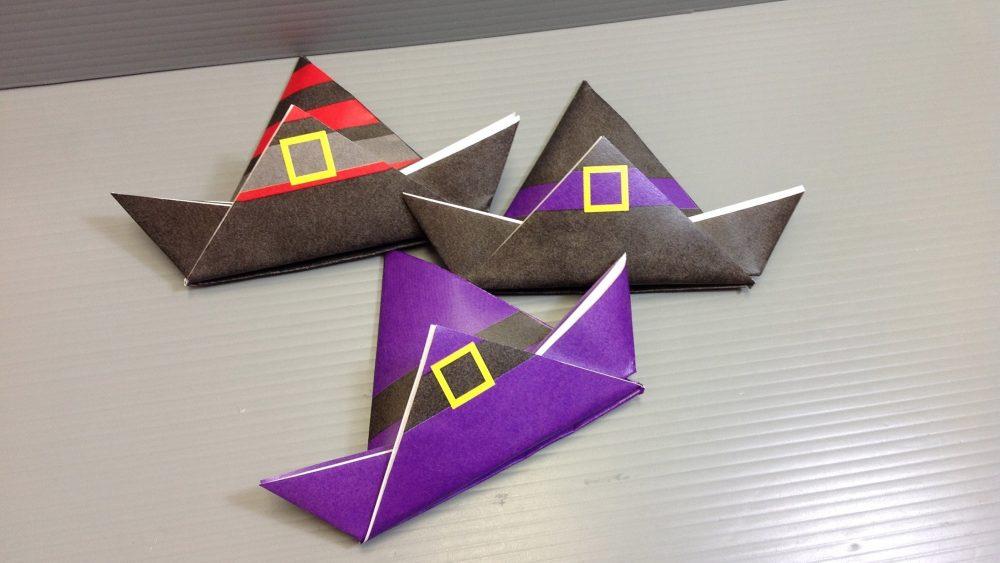 Шапки в технике оригами