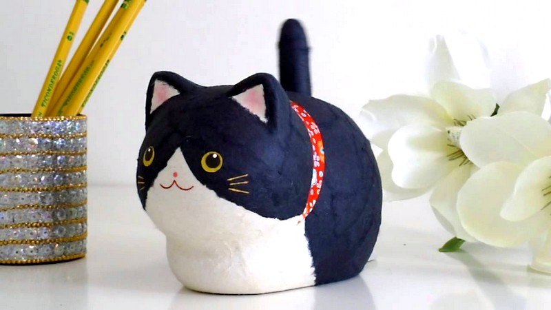 игрушки из бумаги для котят