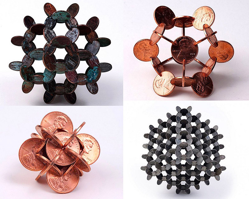 Поделки из 10 копеечных монет своими руками