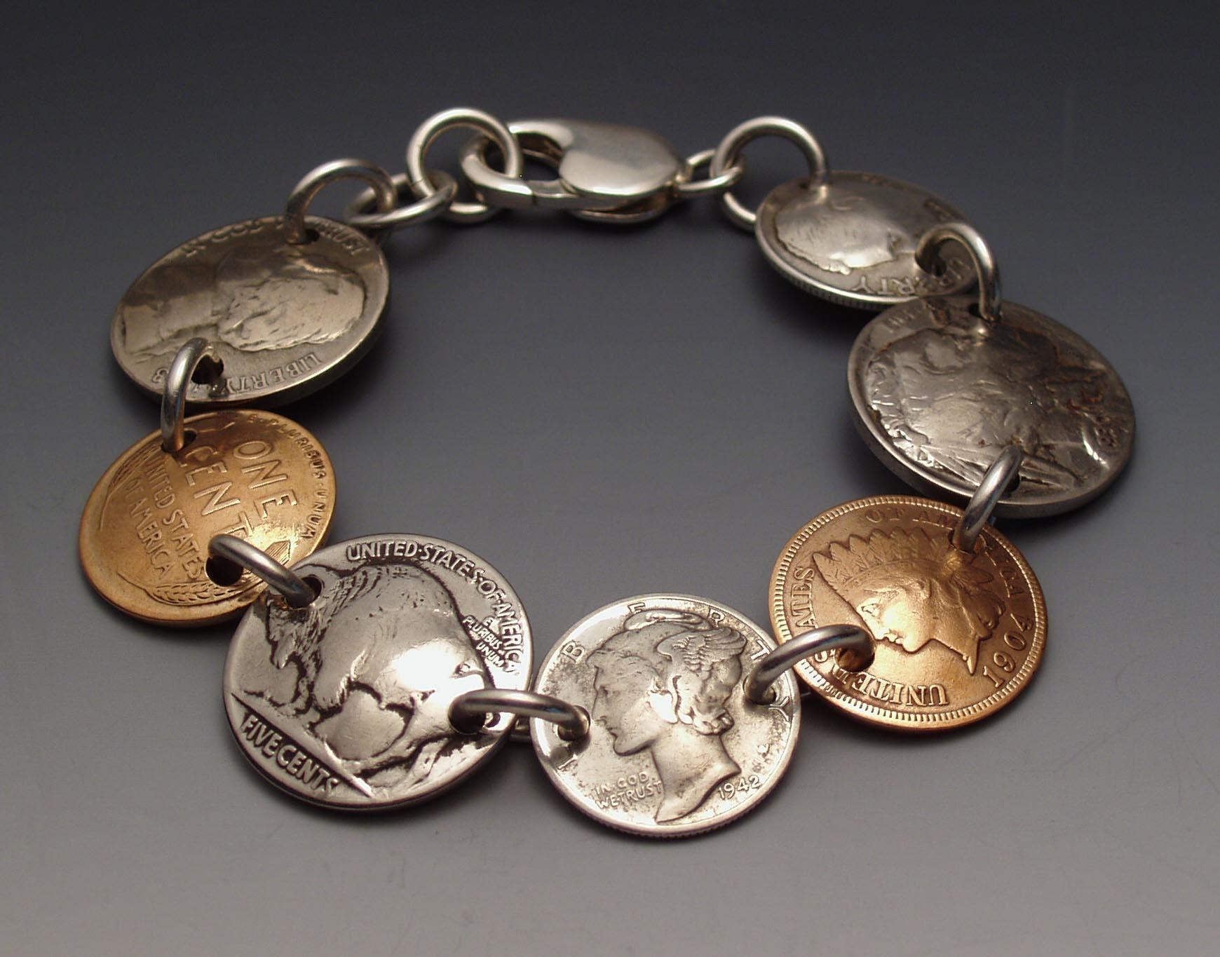 Как из монет сделать браслет из
