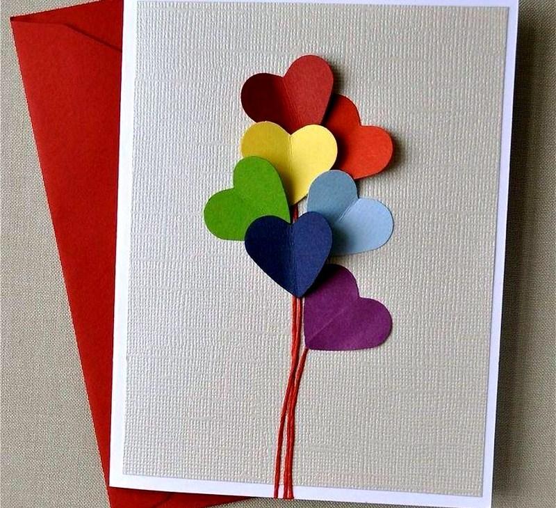 Сделать с ребенком открытку на день рождения бабушке