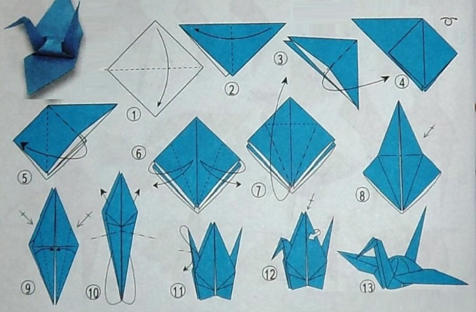 Оригами из бумаги своими руками лебедь схема