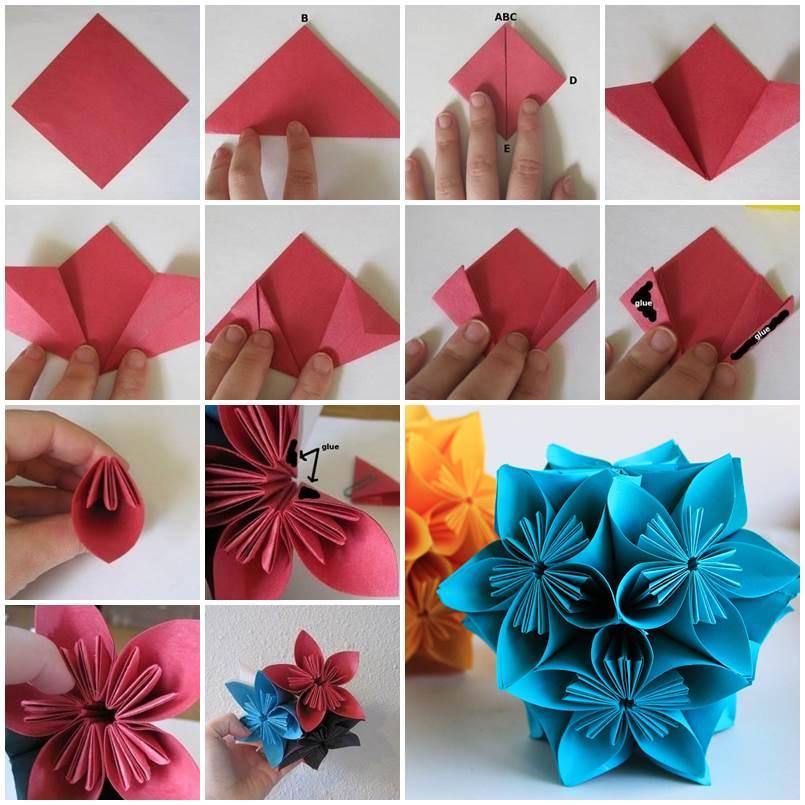 Поэтапное изготовление букета цветов из бумаги