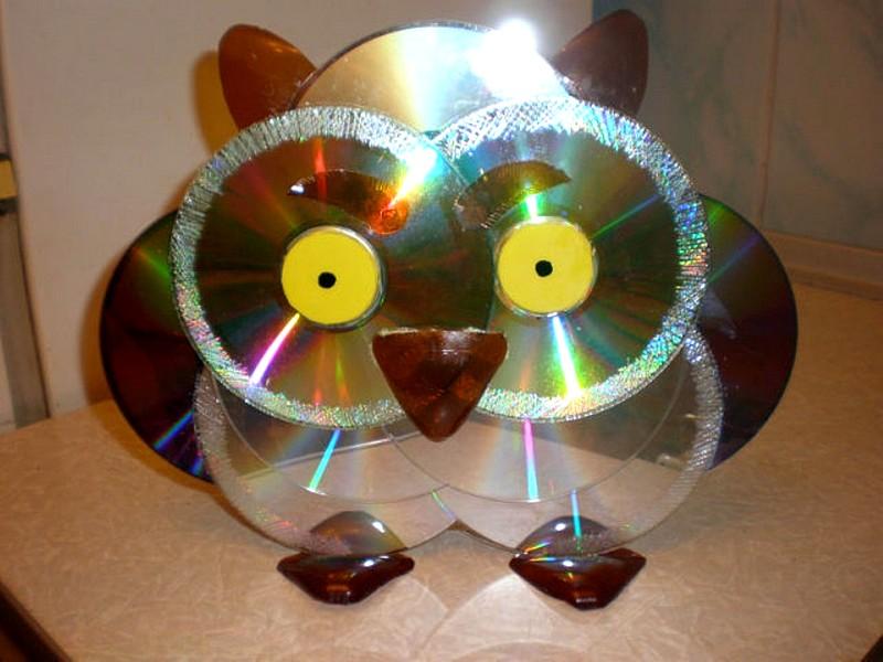 Поделки из дисков сд для сада