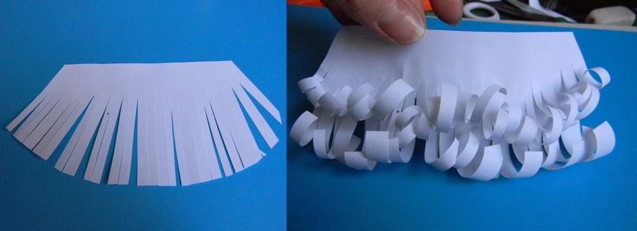 Изготовление бороды из бумаги