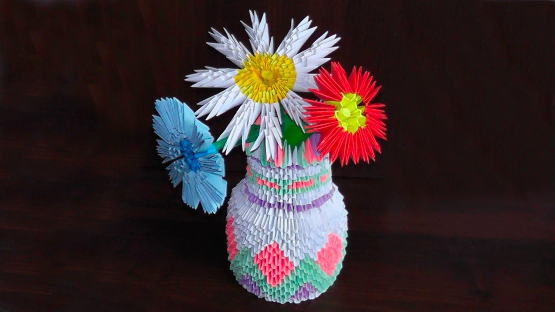 Модульные цветы в модульной вазе