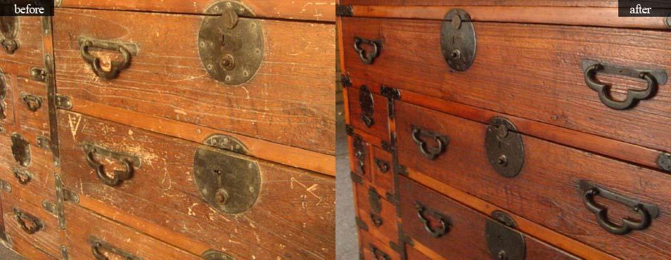 Пример отреставрированной старой мебелиПример отреставрированной старой мебели