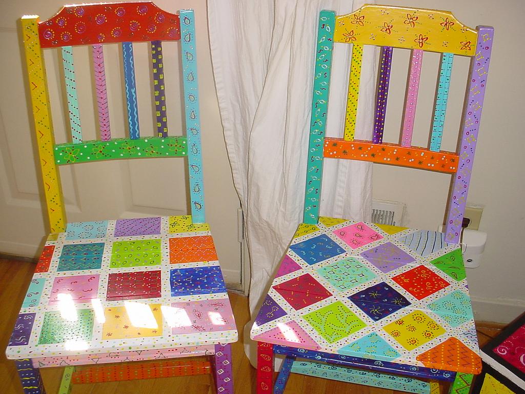 Дизайн стульев в стиле пэчворк