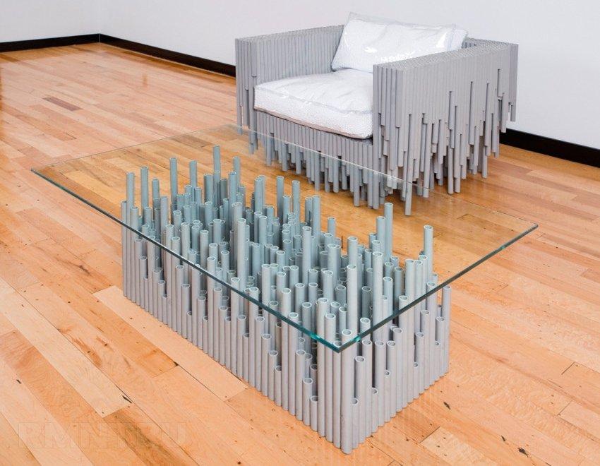 Мебель из отрезков полипропиленовых труб