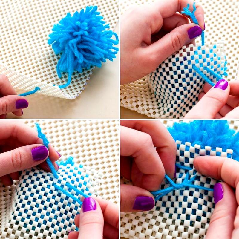 Как сделать ковер с ниток своими руками