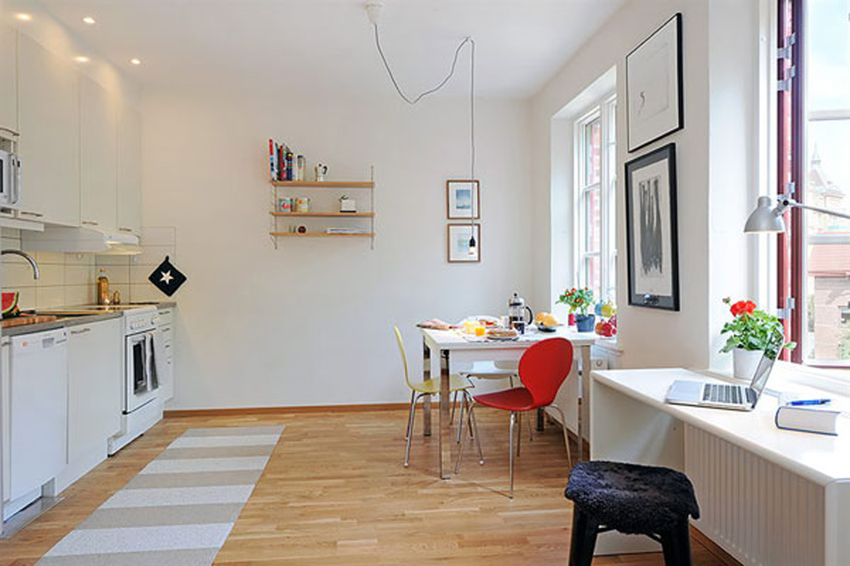 Именно открытое пространство позволяет сделать квартиру просторней и комфортней