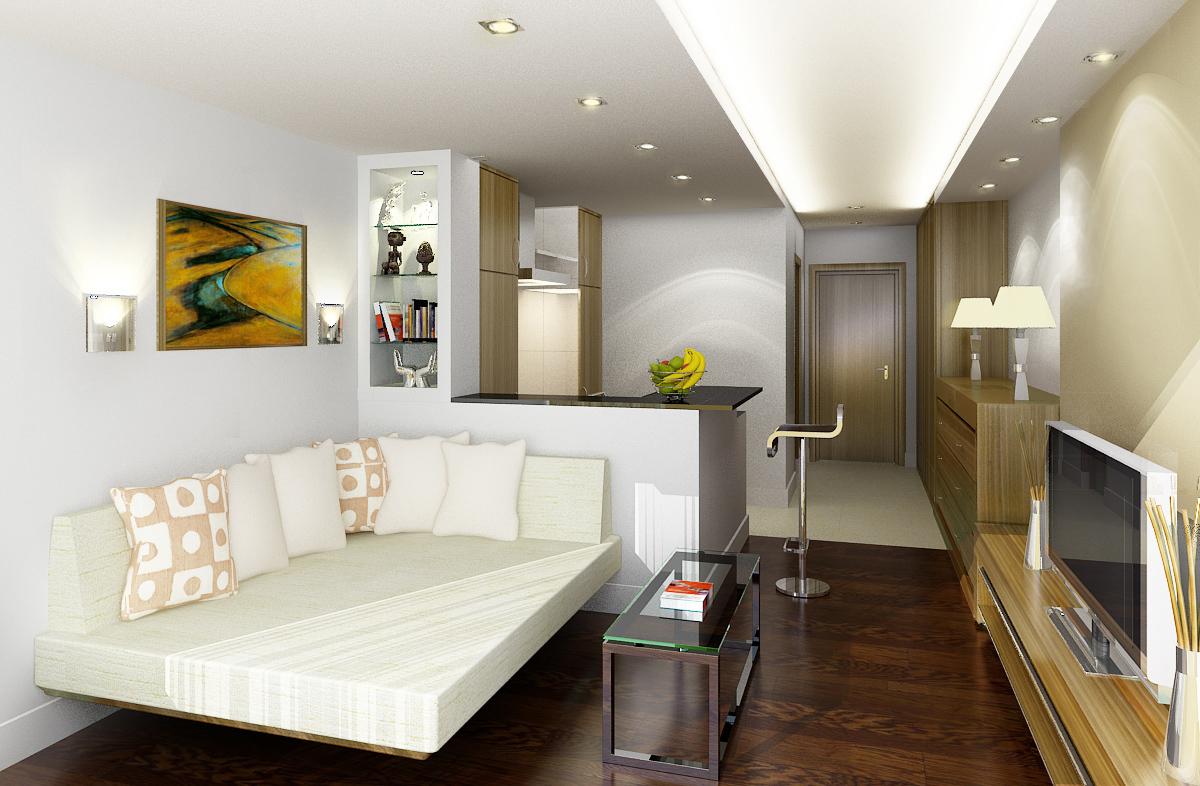Классический дизайн однокомнатной квартиры 40 кв.м