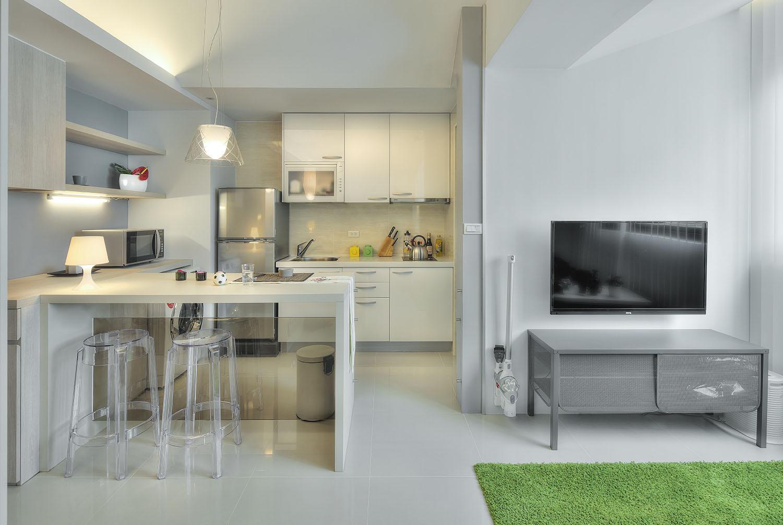 В студии кухня обязательно должна быть меньше по размеру, чем место для отдыха