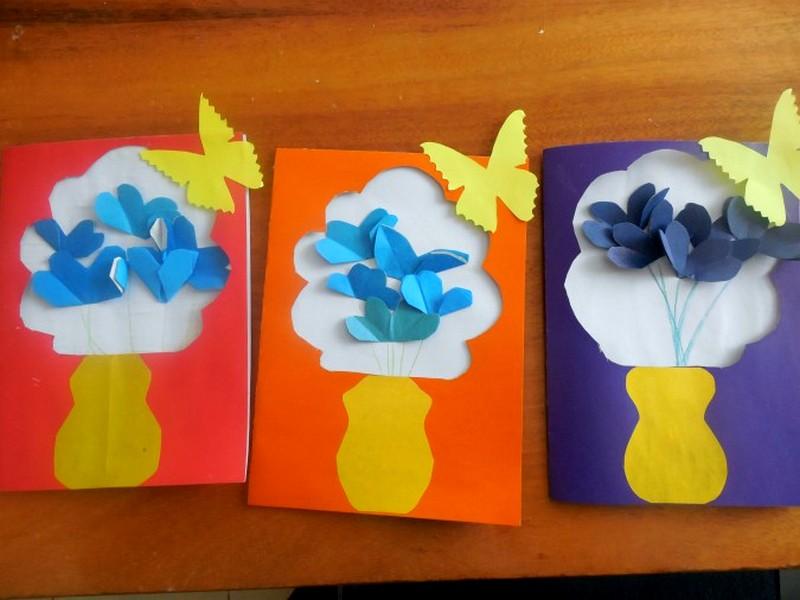 Открытка для мамы своими руками на 8 марта в начальной, поздравление днем рождения