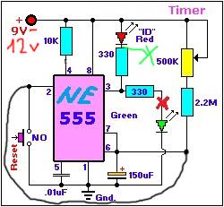 Таймер на микросхеме NE555 (включения и выключения)