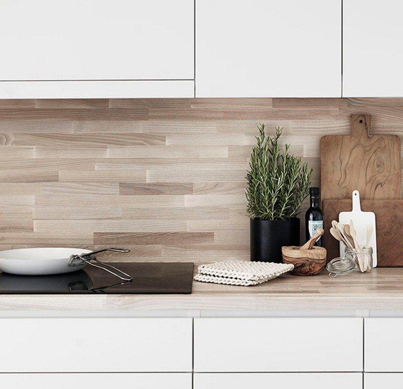 Кухонный фартук из ламината