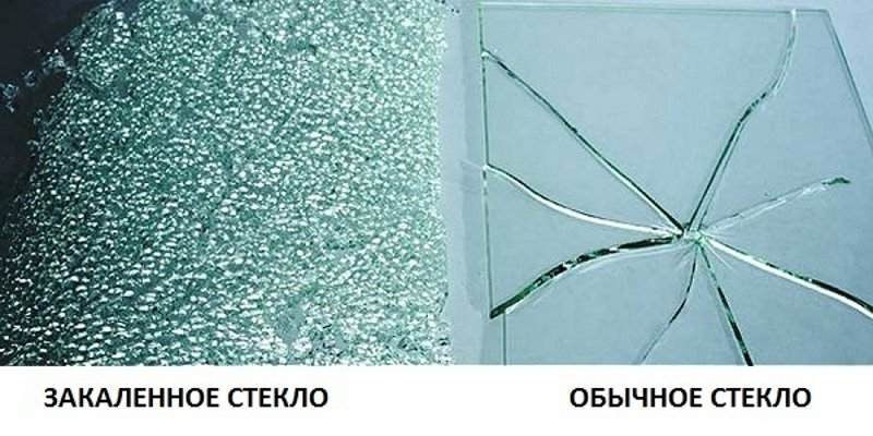 Сравнение обычного и закаленного стекла
