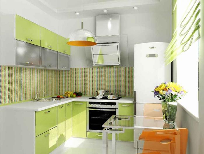 Фото кухни в фисташковом цвете 2