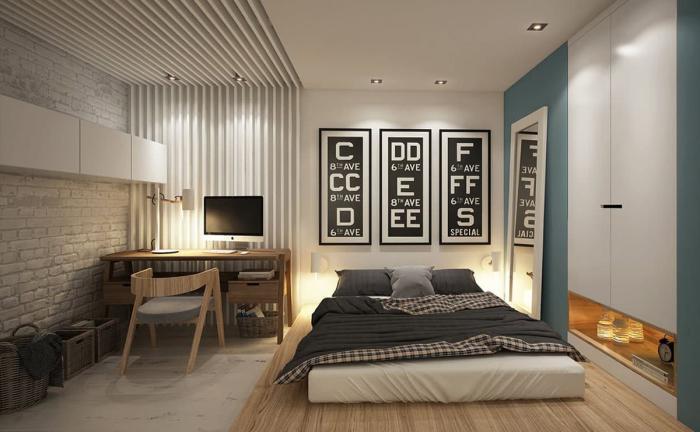 Интерьер спальни-кабинета 2