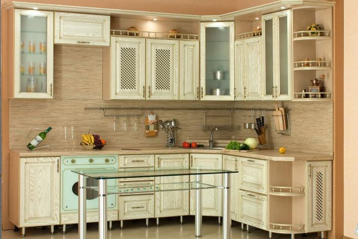 Навесные кухонные шкафчики под потолок